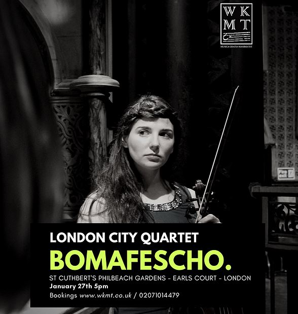 Our Music Community flattered by the London City Quartet
