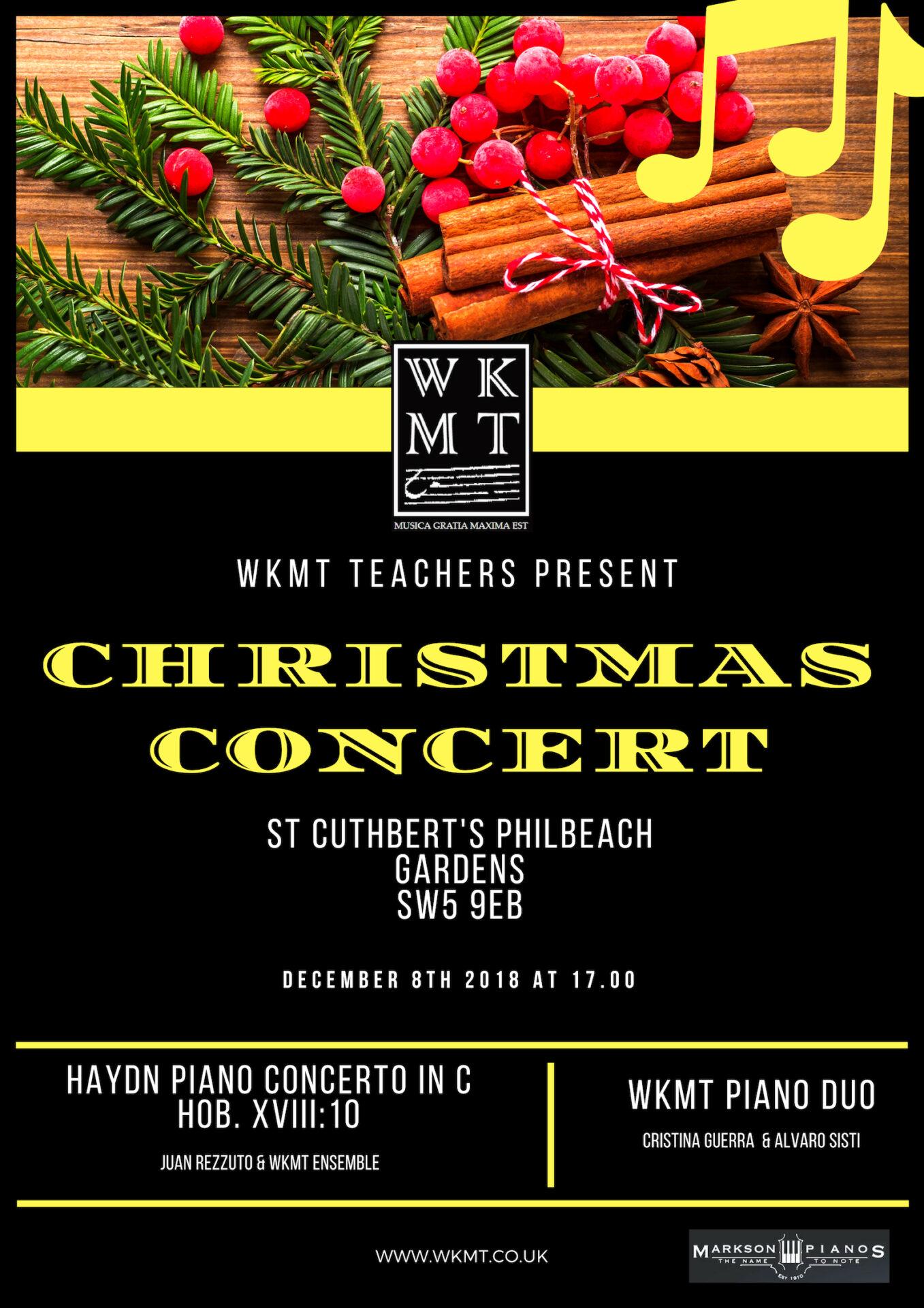 London WKMT Christmas concert
