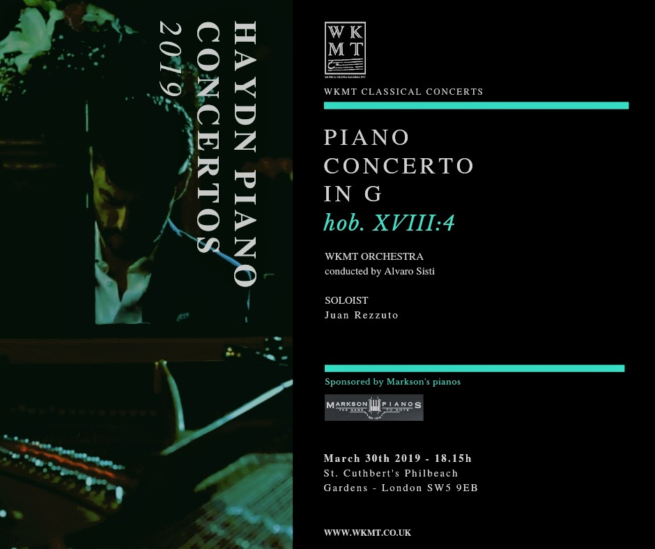 Piano concerto by Maestro Juan Rezzuto and WKMT String Ensemble
