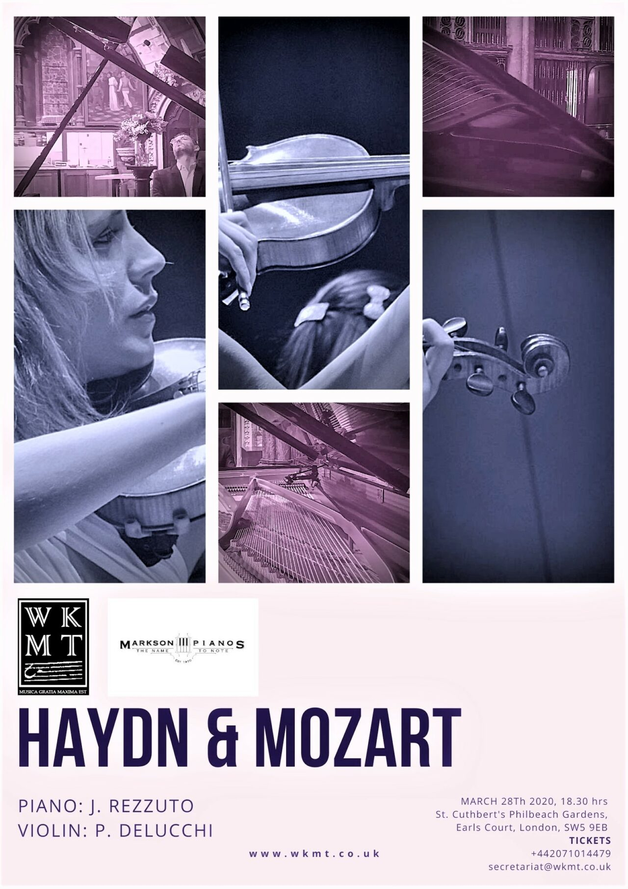WKMT Concert March 2020: Haydn and Mozart together